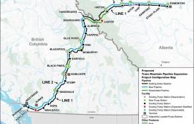Trans Mountain Pipline Map