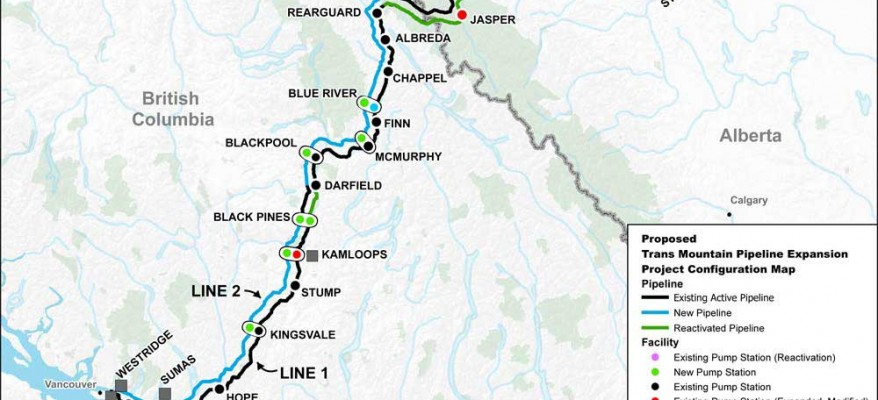 Trans Mountain Pipline Map