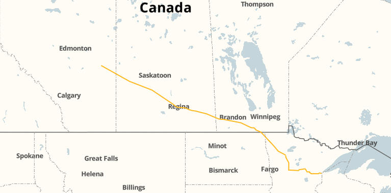 Line 3 pipeline map